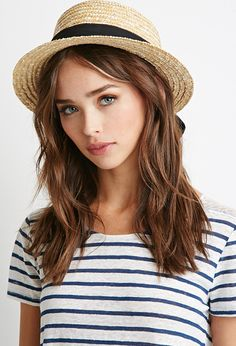 Straw Boater Hat   Forever 21 - 2000052974