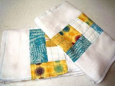 Quilted Burp Cloths...make burp cloths to practice machine quilting skills.