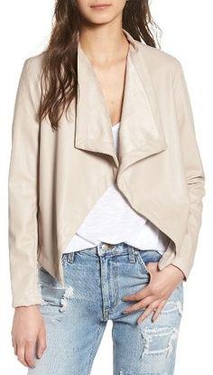 'Peppin' Drape Front Faux Leather Jacket by BB Dakota on ShopStyle.