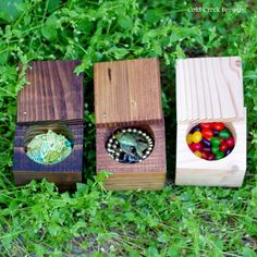 Wood Box - Wood Gift Box - Wood Keepsake Box - Swivel Top and Circle Center. $10.00, via Etsy.