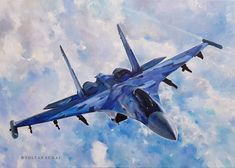 MiG . Oil on Canvas . (50 x 70 cm) Oil On Canvas, Fighter Jets, Fine Art, Artist, Painting, Painting Art, Paintings, Visual Arts, Painted Canvas