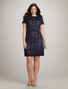Plus Size Scalloped Lace Dress mother of the bride? Batik Dress, Lace Dress, Dress Up, Big Girl Fashion, Curvy Fashion, Plus Size Dresses, Plus Size Outfits, Xl Mode, Modelos Plus Size