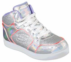 S Lights: Energy Lights Ultra - Glitzy Glow Skechers Kids Shoes, Skechers Store, Glow Shoes, Ultra Shoes, Color Changing Lights, Light Up Shoes, Fabric Shoes, Shoe Size Conversion