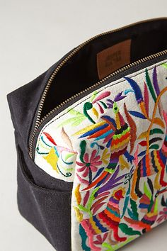 Neon Forest Cosmetic Bag - anthropologie.com