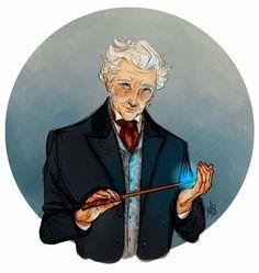 Mr. Ollivander by atalienart