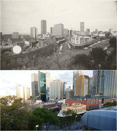 The Australian Hotel, The Rocks and city backdrop 1976 > [Australian Hotel > Kevin Sundgren. By Kevin Sundgren. The Rocks Sydney, City Backdrop, First Fleet, Historical Photos, Old Photos, New York Skyline, Backdrops, Past, Photographs