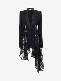 Shop ‎Women‎'s ‎ ‎ ‎Lace Drape Corset Jacket ‎ from the official online store of iconic fashion designer Alexander McQueen. Alexander Mcqueen, Hijab Fashion, Fashion Outfits, Emo Fashion, Mode Mantel, Fashion Details, Fashion Design, Lace Jacket, Kpop Outfits