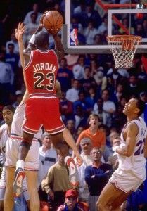 Michael Jordan wearing the Air Jordan IV