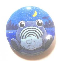 Pokemon Center 2013 15th Anniversary Poliwhirl Tin Can Badge