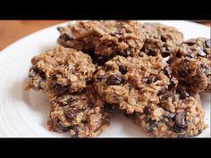 Νόστιμα και υγιεινά μπισκότα που θα ξετρελάνουν τα παιδιά. Brownie Recipes, Cookie Recipes, 2 Ingredient Ice Cream, Peanut Butter Banana Cookies, 2 Ingredients, Cookie Bars, Fudge, Baking, Desserts