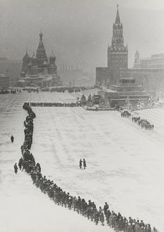 Cccp / Soviet ☭ Dmitry Baltermants, Line to Mausoleum, 1960
