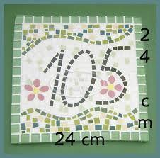 mosaico - número de casa verde