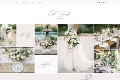Wix Website Template - Wix Template - Create your website with Wix. Html Website Templates, Create Your Own Website, Wedding Templates, Photography Website, Website Web, Website Ideas, Pretty Flowers, Blogging, Layout