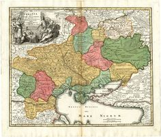 Homann - Rare, Early Map of Ukraine, Russia, Moscovy and the Los Hermanos Karamazov, Houses In Germany, European Map, European History, Ancient History, Online Katalog, Asgard, Medieval World, Old Maps