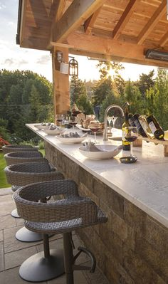 See how a muddy backyard became this Tuscan Retreat Backyard Cabana, Hot Tub Backyard, Backyard Patio Designs, Backyard Landscaping, Rustic Hot Tubs, Covered Patio Design, Tuscan Style, Tuscan Design, Outdoor Kitchen Design