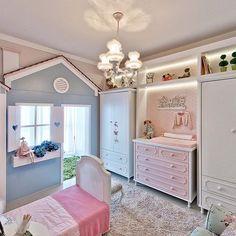 Sonho REAAAL de qualquer menina! (até eu q sou mais boba ) ameeeii !! Projeto Espaço do Traço Arquitetura. Snap: Decoremais  @carolcantelli_interiores