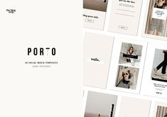 Porto Social Media Kit by The Blog Stop on @creativemarket