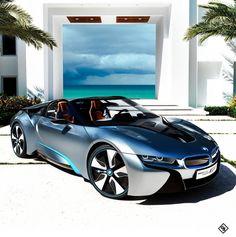 Nice rides: Beautiful BMW at the beach BMW i series fast cars car photos electric future electric cars Carlos Henriquez Bmw I8, Audi I8, Bugatti, Maserati, Luxury Sports Cars, Luxury Auto, Future Electric Cars, Bmw Electric, Dream Cars