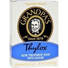 Grandpa's Thylox Acne Treatment Bar Soap with Sulfur - 3.25 oz