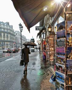 I love Paris in the rain.