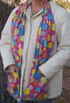 DIY Fleece Scarf with Pocket | ... Pocket Handwarmer Winter Scarf Design Fleece Neck 70 x 9 S2009711