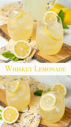 Bright and refreshing, Whiskey Lemonade is perfect to sip on a hot sunny day! Whiskey Lemonade, Whiskey Cocktails, Cocktail Drinks, Cocktail Recipes, Drink Recipes, Martini Recipes, Craft Cocktails, Party Recipes, Fruit Drinks