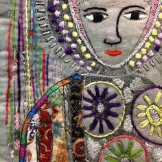 Sentinelle 1 Westerns, Thread Art, Textile Artists, Felt Art, Religious Art, Square Quilt, Embroidery Art, Fabric Art, Quilting Designs