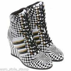 0cbfa3506b60 NEW Adidas Jeremy Scott JS Wedge HI Opart Women S 6 5 38 MID Shoes Boots  Leather