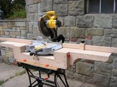 Shop Built Chop Saw Stand #woodworkingbench