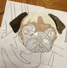 Pet Portrait tutorial And now we get to the really fun part of this tutorial! Assembling the Pug Art Quilt https://laurajanequilts.wordpress.com/2015/10/30/your-pet-photo-to-art-quilt-tutorial-part-3/