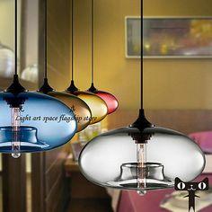 Modern Contemporary Glass Ball Restaurant Pendant Lamp Ceiling Light Fixture AUR ebay