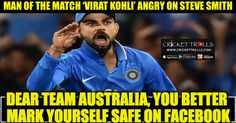 WATCH- What made Virat Kohli angry ? (IND vs AUS T20 Series 2016) | Cricket Trolls -  Funny Cricket Trolls, Memes and News