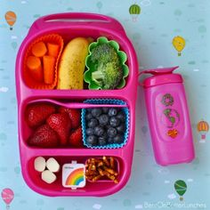 Rainbow lunch. Goodbyn lunchbox available from www.thelunchboxqueen.co.nz