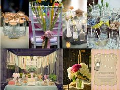 Like the jars with floating candles and the hanging jars with flowers.