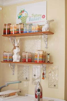 The Pattern Basket sewing room