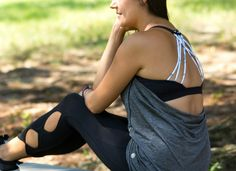 Cute and affordable workout clothes. Drop back tank only $30!  Side leg cutout pants only $25! www.torch-athletics.com