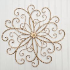 Wrought Iron Wall Decor-You Pick Color(s)/ Gold/ Metal Wall Decor/ Wrought Iron/ Flower/ Scroll/ Bedroom Wall/ Garden Room/ Outdoor Decor/ by TheShabbyStore on Etsy https://www.etsy.com/listing/229993410/wrought-iron-wall-decor-you-pick-colors