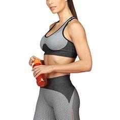 ca2102478 Lupo Women s Micro Print Wirefree Seamless Racerback Gym Yoga Sports Bra      Click image