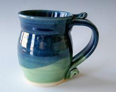 Pottery Coffee Mug Handmade Wheel Thrown by riverstonepottery, $18.00