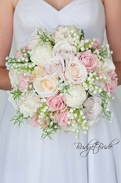Romantic Spring Wedding bouquet in blush pink tones with lily of the valley - Maggieh Blush Wedding Flowers, Bride Flowers, Bride Bouquets, Flower Bouquet Wedding, Floral Wedding, Purple Wedding, Pink Flowers, Lily Of The Valley Wedding Bouquet, Flower Girl Bouquet