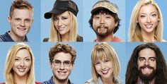 "The final eight ""Big Brother"" 17 houseguests are from top left to right, John, Vanessa, James, and Julia; and from bottom left to right is Liz, Steve, Meg, and Austin."