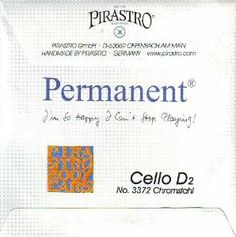 Pirastro Cello Permanent D Chrome, 337220 by Pirastro. $40.62. Strings and Music Accessories by Juststrings.com