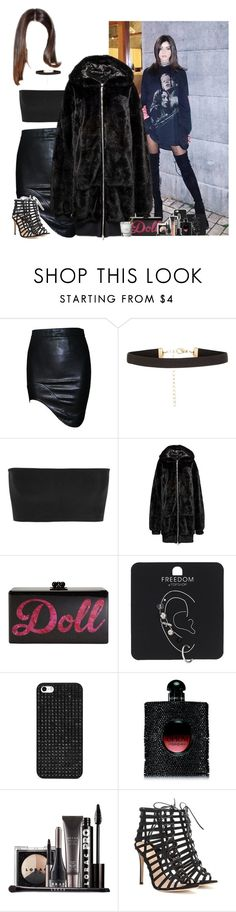 """Clubbing with Eleanor"" by fxrever-isnt-for-everyone ❤ liked on Polyvore featuring New Look, Balmain, Edie Parker, Topshop, BaubleBar, Yves Saint Laurent, LORAC, Gianvito Rossi, Charlotte Tilbury and eleanorcalder"