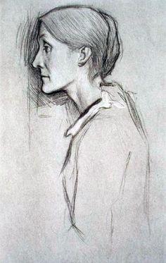 Mrs Leslie Stephen, madre de Virginia Wolf y Vanessa Bell. Willian Rothenstein, 1892. Edgar Degas. IMPRESIONISTAS EN PRIVADO. FUNDACIÓN CANAL. CANAL DE ISABEL II.