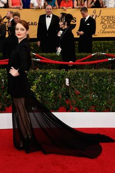 #EmmaStone in #Dior #Couture - 2015 SAG Awards