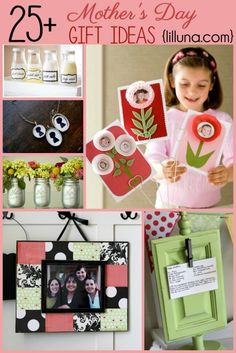 Must Pin!  Over 25 Mother's Day Gift Ideas!! B this is a HINT for ya...lol.. Love you babe!! Now you won't be so confussed each year