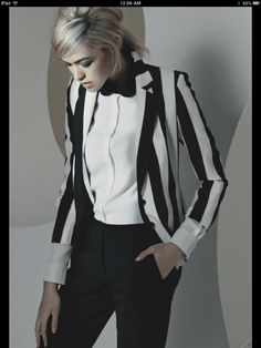 #Bebe black and white blazer