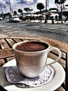 Turkish coffee at Bosphorus, Istanbul. photo by Ezgi Karatekin