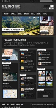 churchthemes.com - Resurrect Demo : Church WordPress Theme http://www.awordpressthemesreview.com/resurrect-review/ #WordPress