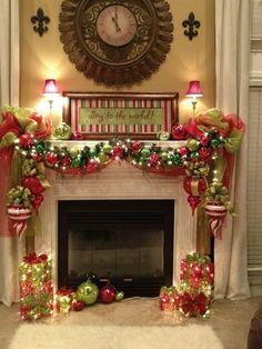 Fireplace Christmas Decorations Ideas